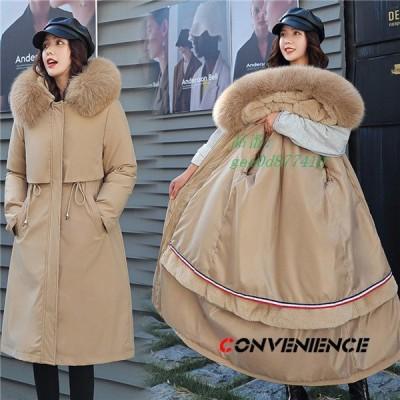 中綿ジャケット 中綿コート レディース ロングコート モッズコート ロングジャケット 冬 暖かい 大きいサイズ アウター もこもこ フード付き 防寒