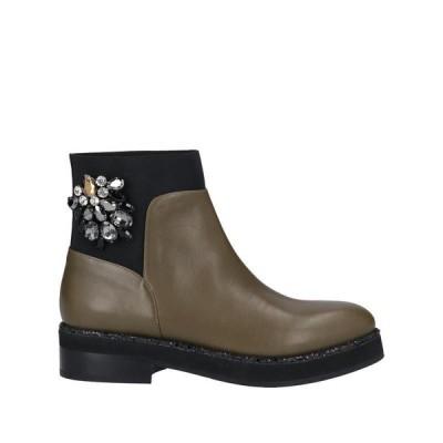 ALBERTO GOZZI ショートブーツ  レディースファッション  レディースシューズ  ブーツ  その他ブーツ ミリタリーグリーン