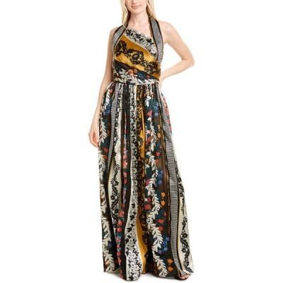 オスカー デ ラ レンタ ワンピース トップス レディース Oscar de la Renta Silk-Lined Gown saffron multicolor