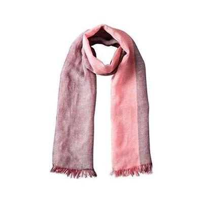 (ザ・スコッチハウス) THE SCOTCH HOUSE メンズ ストール グラデーション ヘリンボーン FREE ピンク