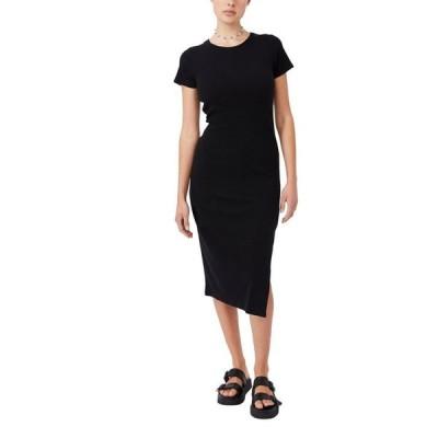 コットンオン レディース ワンピース トップス Women's Essential Split Short Sleeve Midi Dress