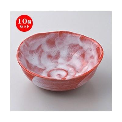 10個セット 中鉢 赤彩手造鉢 [ 15.8 x 6.2cm ] 【 料亭 旅館 和食器 飲食店 業務用 】