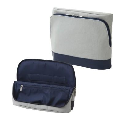 ソニック ユートリム スマ・スタ キャンバス地 タブレット 立つバッグインバッグ グレー UT-4042-GL