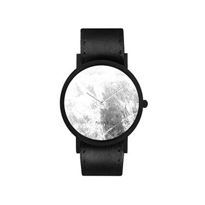 South Lane Stainless Steel Swiss-Quartz Watch with Leather Calfskin Strap, Black, 20 (Model: AW18-2-3) 並行輸入品