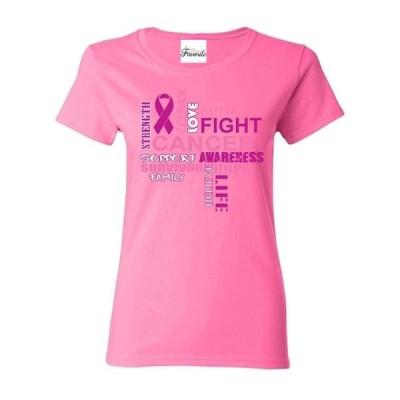 レディース 衣類 トップス Womens Breast Cancer Awareness Short Sleeve T-Shirt Tシャツ