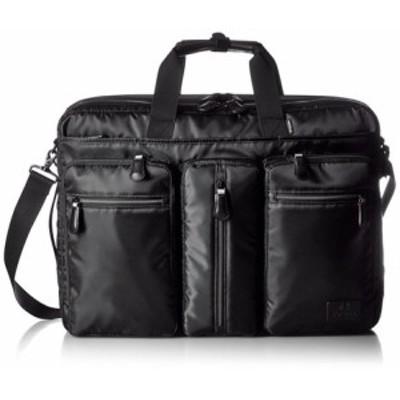 【最終特価】高機能ビジネスバッグA3サイズ対応【ビジネス】 -- ブラック(内装ブルー)