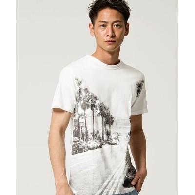 【シルバーバレット】 anchor craftROADフォトプリントクルーネック半袖Tシャツ メンズ ホワイト Lサイズ SILVER BULLET