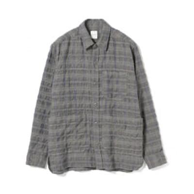 【アウトレット】sage de cret / グレンチェック シャツジャケット