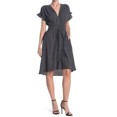 マックスタジオ レディース ワンピース トップス Short Sleeve Crepe Midi Dress BKIVODMS