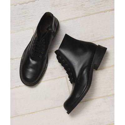 【ル ソン】 本革カウレザーサイドジップブーツ メンズ ブラック 26.5cm Le son