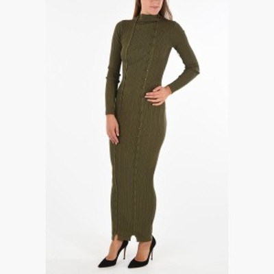 JACQUEMUS/ジャックムス ロングドレス Green レディース 秋冬2019 Ribbed Long Dress dk