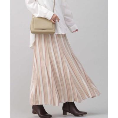 マルチストライプフレアスカート