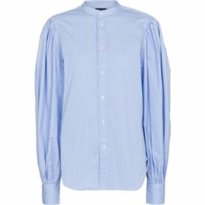 ラルフ ローレン Polo Ralph Lauren レディース ブラウス・シャツ トップス striped cotton shirt Blue/White Multi
