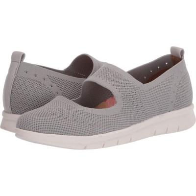 コンフォーティヴァ Comfortiva レディース スリッポン・フラット シューズ・靴 Carlene Light Grey Knit Mesh
