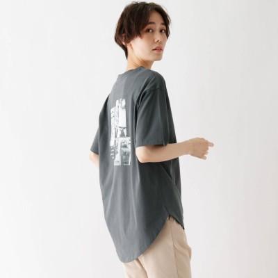 シューラルー SHOO-LA-RUE ひんやり 転写プリントTシャツ (ディープグレー)