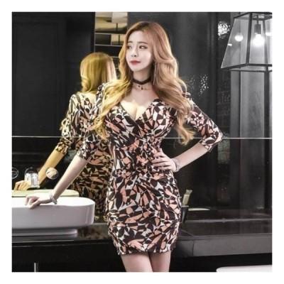 キャバドレス キャバ嬢ドレス 大きいサイズ キャバクラドレス キャバ ドレス   ミニ ミニドレス タイト 韓国キャバドレス 韓国 袖あり 30代 パーティードレス