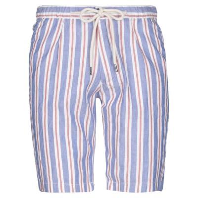 ALLEY DOCKS 963 バミューダパンツ ブルー 52 リネン 55% / コットン 45% バミューダパンツ