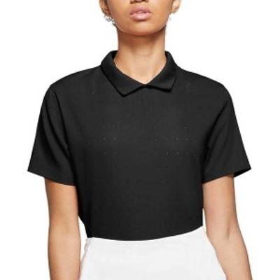ナイキ レディース シャツ トップス Nike Women's Dri-FIT Ace Short Sleeve Golf Polo Black