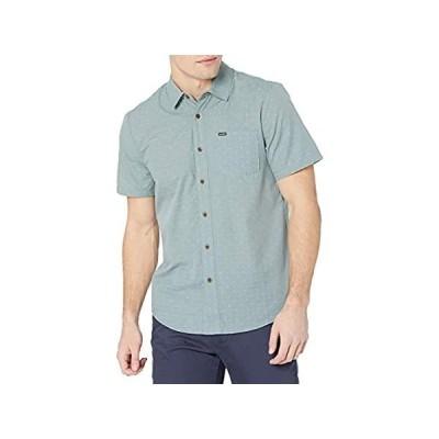 特別価格Volcom Men's Stallcup Short Sleeve Woven Shirt, Cool Blue, Medium好評販売中
