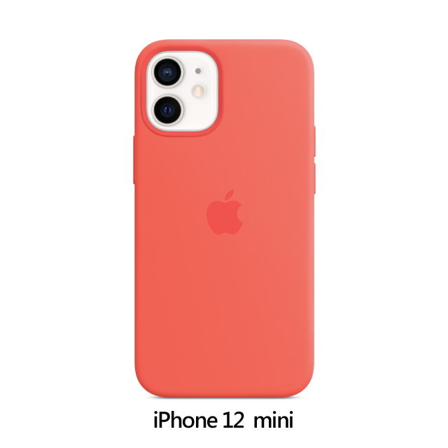 iPhone 12 mini MagSafe 矽膠保護殼 - 粉橘色 Pink Citrus (MHKP3FE/A)
