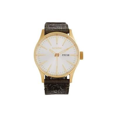 ニクソン Sentry Leather メンズ 腕時計 時計 ファッションウォッチ Gold/Olive