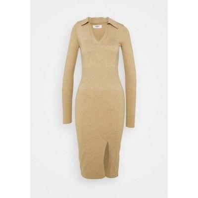 フォース アンド レックス ワンピース レディース トップス ALBANDY DRESS - Jumper dress - beige