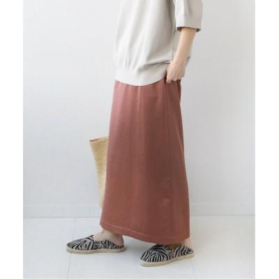 【ジャーナルスタンダード】 サテンバックスリットIラインスカート◆ レディース ブラウン 36 JOURNAL STANDARD