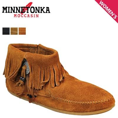 ミネトンカ MINNETONKA ブーティー サイドジップ ブーツ CONCHO FEATHER SIDE ZIP BOOT レディース