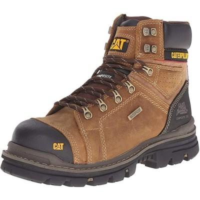 Caterpillar メンズ Hauler 6 インチ 防水 Comp Toe Work ブーツ, ダーク ベージュ, 10 W U(海外取寄せ品)