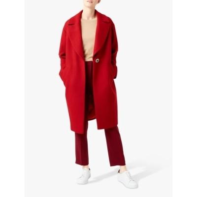 ホッブス ジャケット&ブルゾン レディース アウター Hobbs Jane Wool Blend Coat, Deep Red