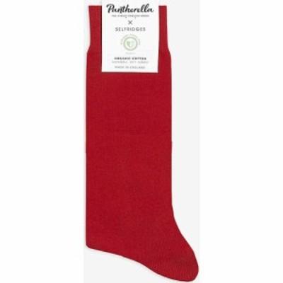 パンセレラ SELFRIDGES X PANTHERELLA メンズ ソックス インナー・下着 Selfridges organic cotton socks Red