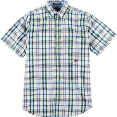 トミーヒルフィガー 半袖 チェックシャツ メンズS /eaa008639