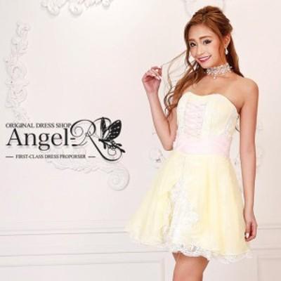 AngelR ドレス エンジェルアール キャバドレス ナイトドレス ミニドレス ゴールド 7号 S 7611-AR クラブ スナック キャバクラ パーティー