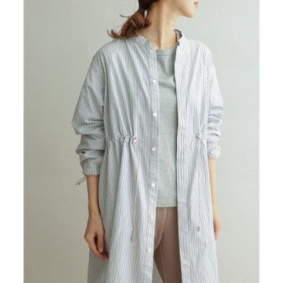 アウター GYMPHLEX STRIPE SHIRT COAT