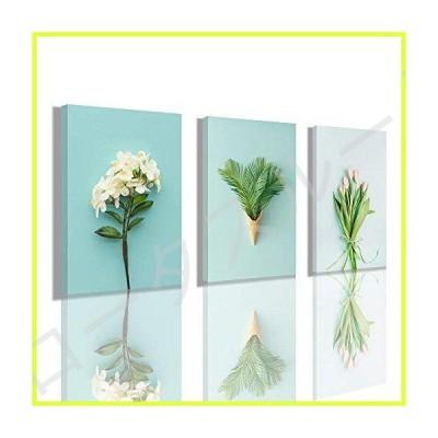 プリントウォールアート 風景モザイク - 美しい花の装飾絵画 寝室 リビングルーム レストラン 12 x 16 x 3