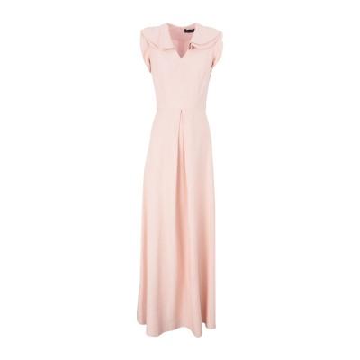 ACTUALEE ロングワンピース&ドレス ライトピンク 40 レーヨン 85% / ポリエステル 15% ロングワンピース&ドレス