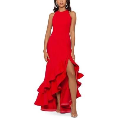 ベッツィアンドアダム Betsy & Adam レディース パーティードレス ワンピース・ドレス Tiered Ruffles Scuba Crepe Gown Red