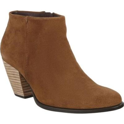 エコー ブーツ&レインブーツ シューズ レディース Shape 55 HYDROMAX Western Ankle Bootie (Women's) Camel Calf Suede
