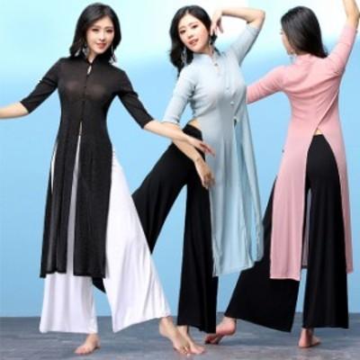 モダンダンス 社交ダンス 3色 中国風トップス 上着 舞台 練習服 演出 イベント ダンス衣装 vffzw031
