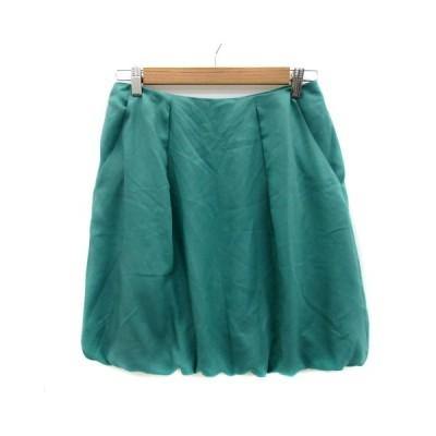 【中古】クチュールブローチ COUTURE BROOCH スカート バルーン ミニ丈 無地 40 緑 グリーン /YS23 レディース 【ベクトル 古着】