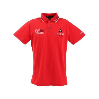 ルコック スポルティフ(Lecoq Sportif) ゴルフ ポロシャツ メンズ ドライ鹿の子シーズンマーキング半袖シャツ QGMPJA25-RD00 (メンズ)