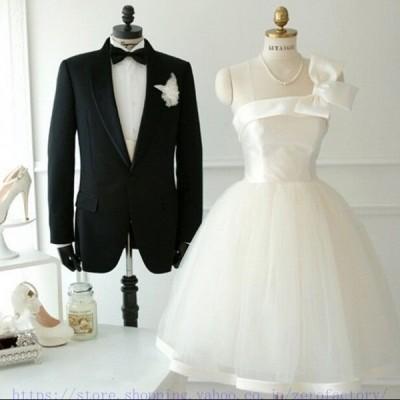 ウェディングドレス ミニ カラードレス 結婚式 二次会 手作り ウエディングドレス パーティードレス ワンピースミニドレス ホワイト 白 黒 安い
