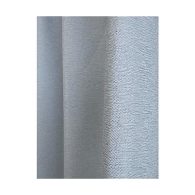 省エネ 断熱 防炎 一級遮光 ウォッシャブルカーテン (M-140) (ライトブルー, 幅100cmX丈135cm 2枚入り)