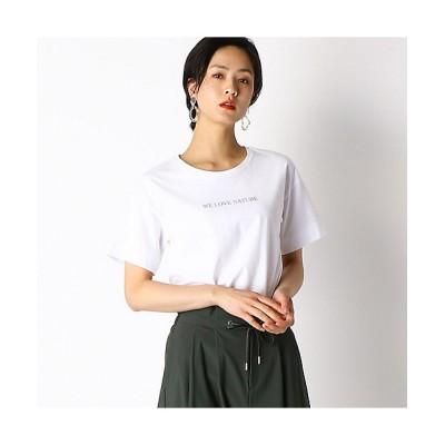 <COMME CA(Women)/コムサ> メッセージプリント Tシャツ(1560ET04) 01【三越伊勢丹/公式】