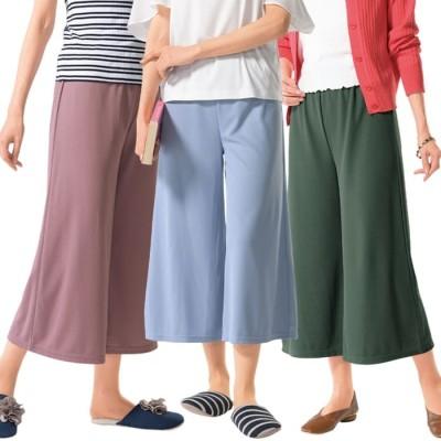 ベルーナ 【3本組】サラッとかのこのおうちパンツ ブルー M レディース