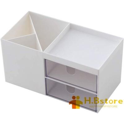 卓上収納 プラスチック 引き出し コンパクト 収納ボックス 小型 多機能 収納ボックス 文房具収納 化粧品入れ ペン立て 持ち運び 軽量