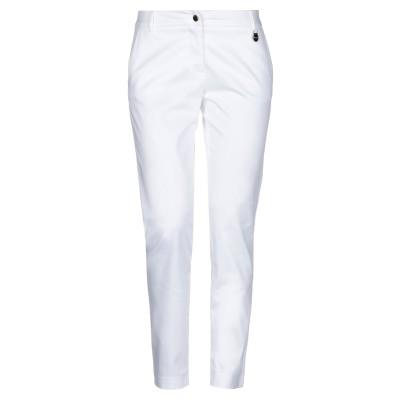 LUCKYLU  Milano パンツ ホワイト 38 コットン 95% / ポリウレタン 5% パンツ
