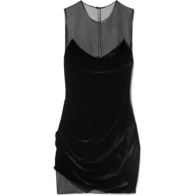 クシュニー・エ・オクス CUSHNIE ミニワンピース&ドレス ブラック 10 レーヨン 82% / シルク 18% ミニワンピース&ドレス