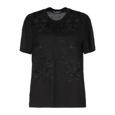 ドルチェ & ガッバーナ DOLCE & GABBANA T シャツ ブラック 40 コットン 100% / レーヨン / ポリエステル T シャツ