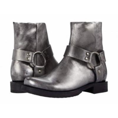 Frye フライ レディース 女性用 シューズ 靴 ブーツ アンクル ショートブーツ Veronica Harness Short Silver Full Grain【送料無料】